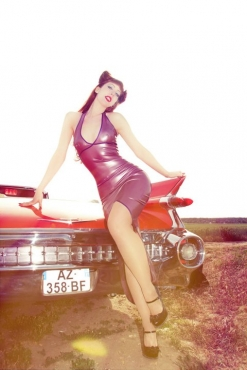 Pin up long dress