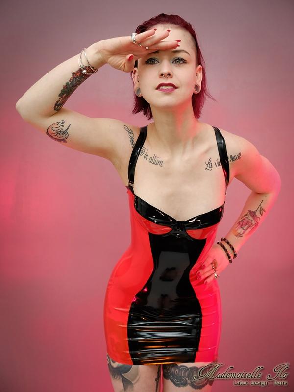Mademoiselle Ilo Basic Dress Latex Rubber Paris France