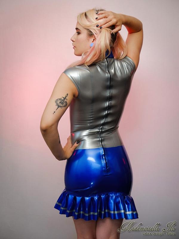 Mademoiselle Ilo Schoolgirl Dress Latex Rubber Paris France