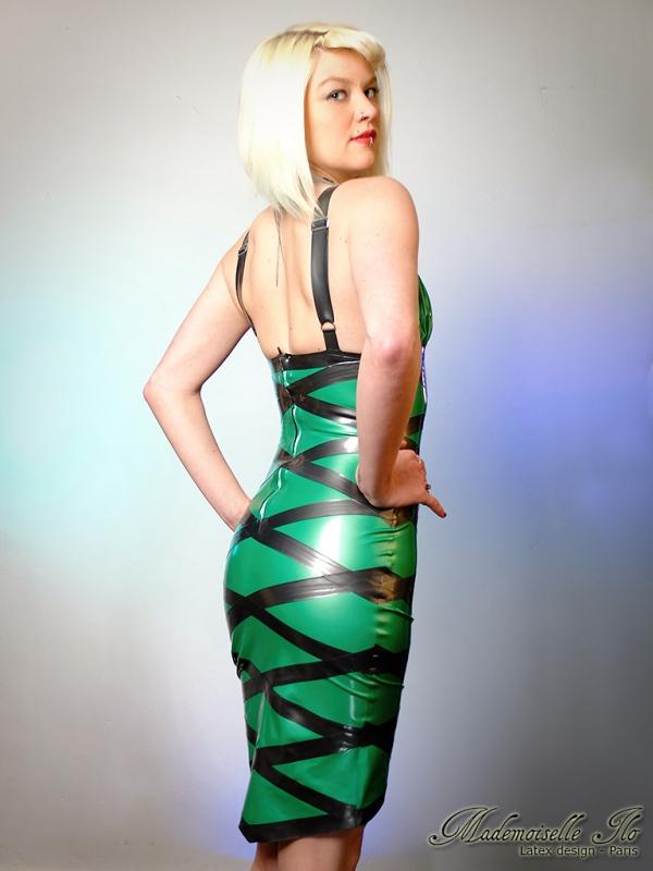 Mademoiselle Ilo Diamond Dress Latex Rubber Paris France