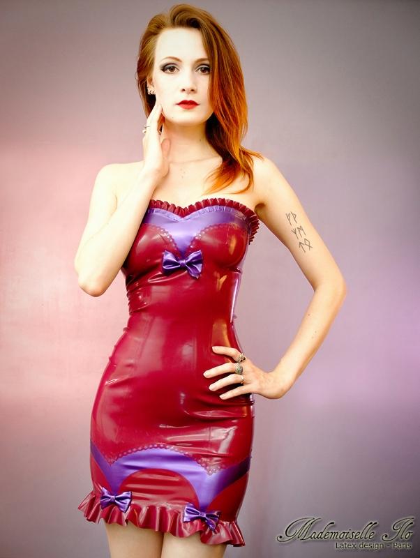 Mademoiselle Ilo Betty Dress Latex Rubber Paris France
