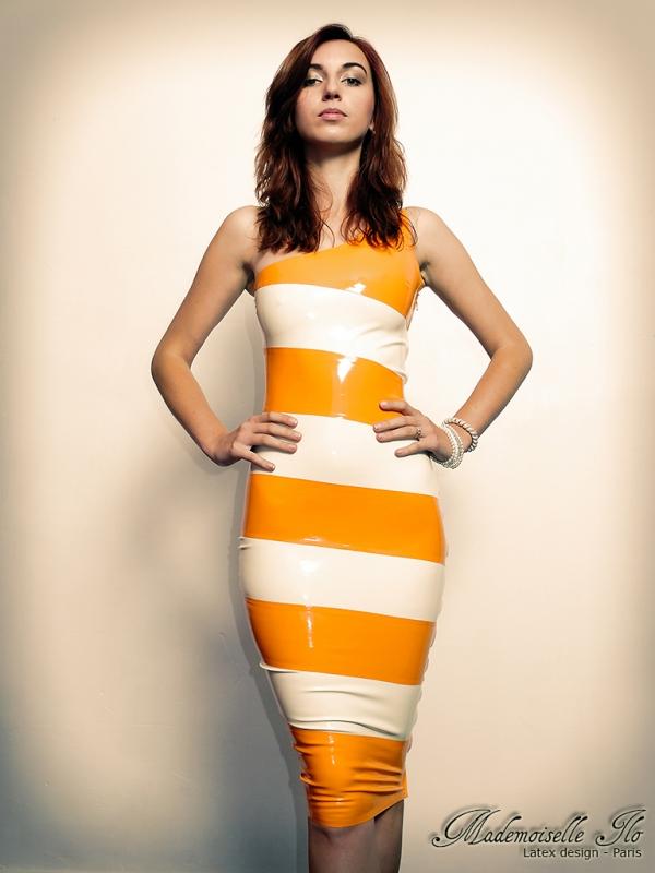 Mademoiselle Ilo Vespa Dress Latex Rubber Paris France