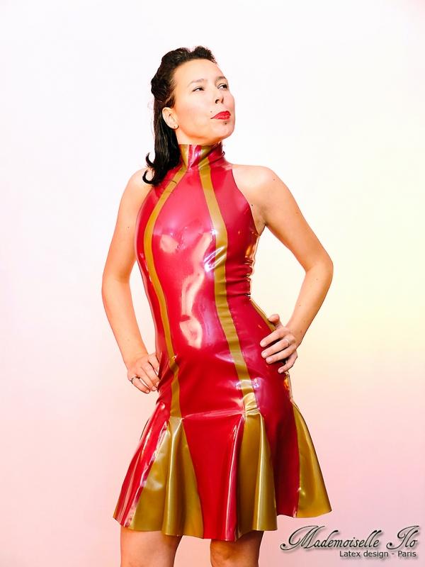 Mademoiselle Ilo Berlingo Dress Latex Rubber Paris France